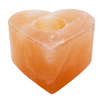 himalayan salt heart shape candle holder